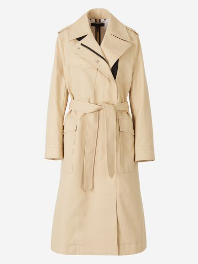 Zipped Crossed Trench Coat