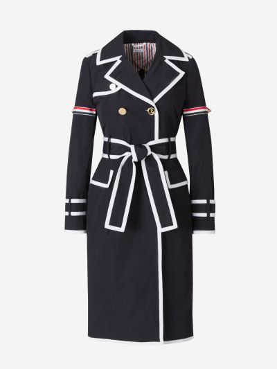 Contrast Trims Technical Trench Coat