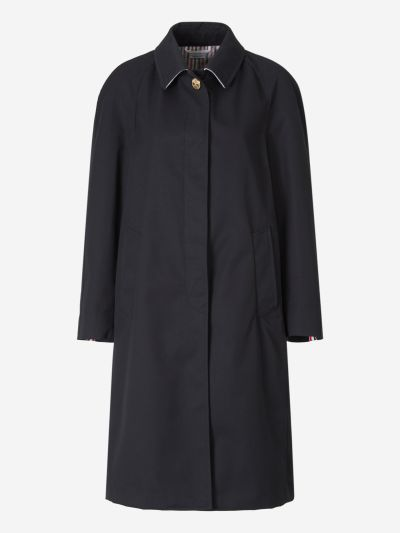 Back Box Pleat Trench Coat