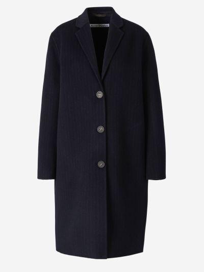 Striped Motif Coat