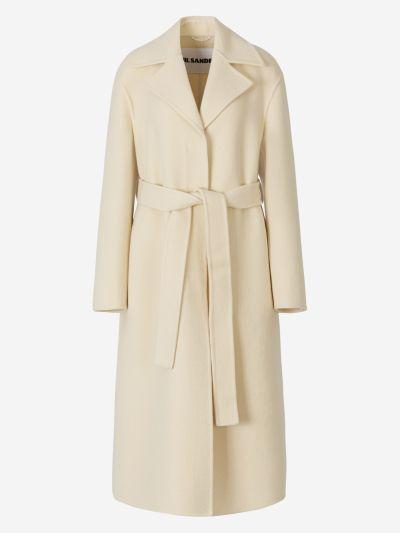 Hidden Buttons Wool Coat