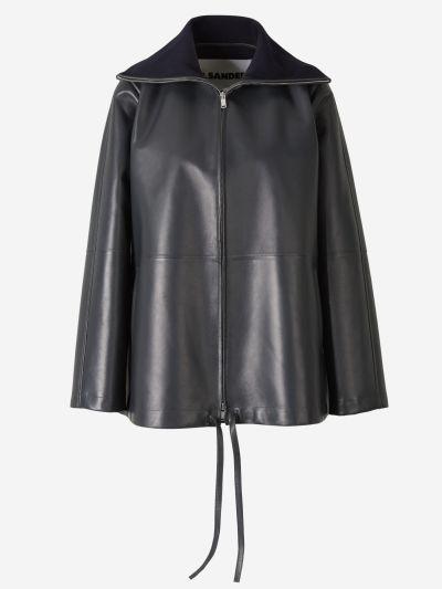 Contrast Neck Coat