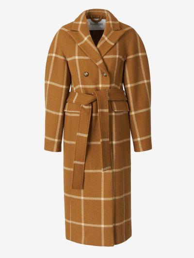 Checked Motif Coat