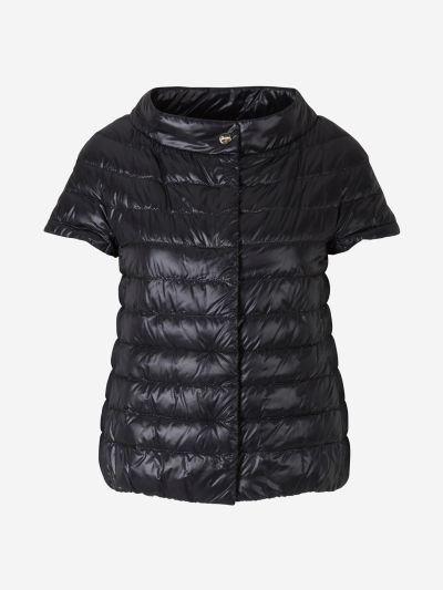 Quilted Short-sleeved Jacket