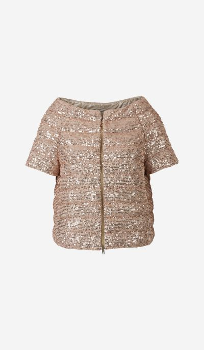 Sequinned Quilted Jacket