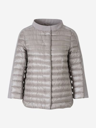 Quilted Jacket with 3/4 Sleeves