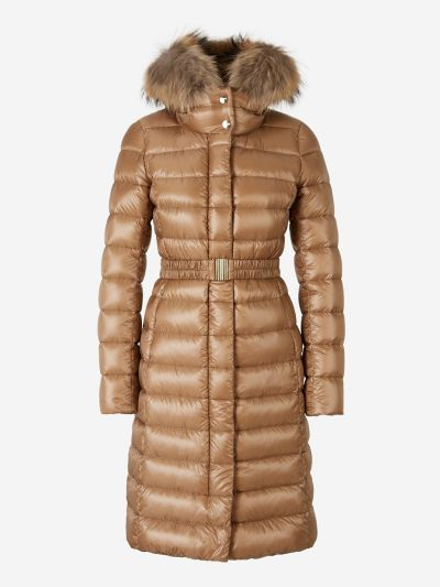 Fur Hooded Padded Coat