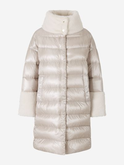 Padded Faux Fur Coat