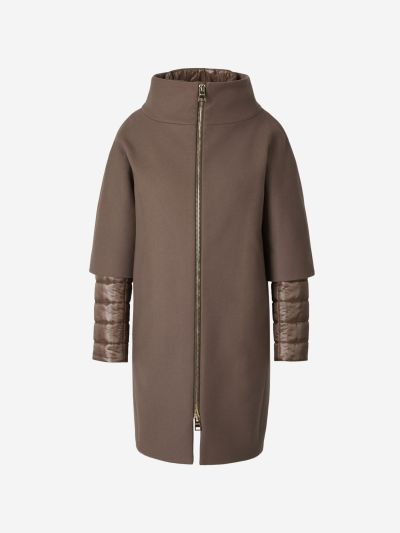Removable Panels Wool Coat