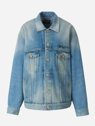Chaqueta Denim Oversized Logo