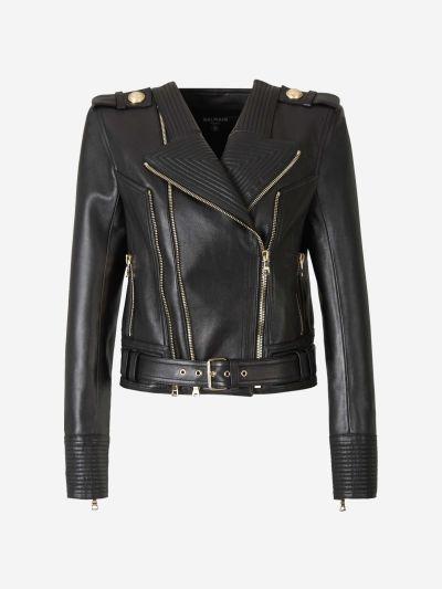 Zippers Leather Jacket