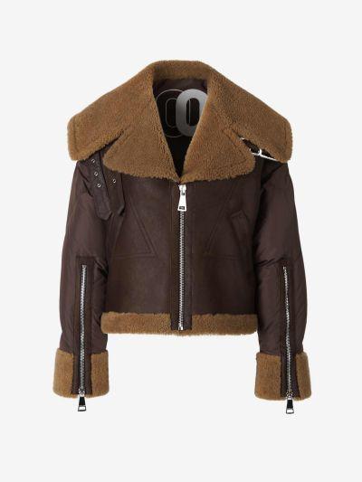 Avitator Leather Padded Jacket