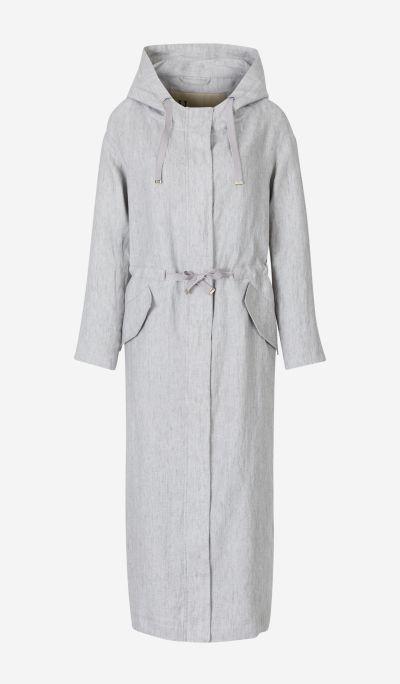 Linen Trenchcoat with Hood