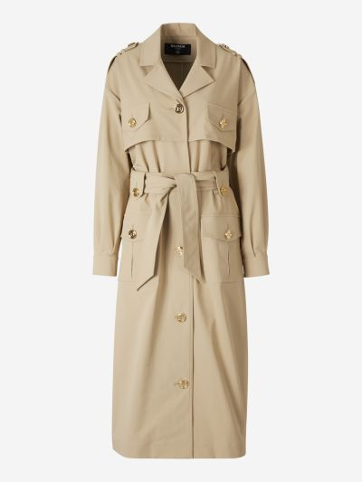 Gold Button Trench Coat