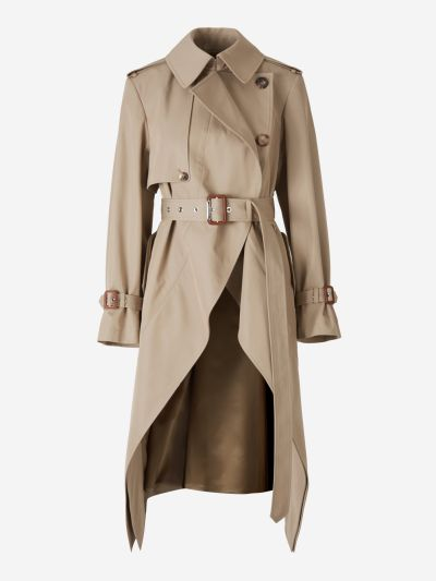 Asymmetrical Trench Coat