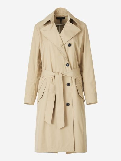 Asymmetric Buttoning Trench Coat