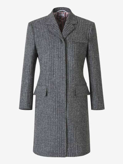Striped Wool Coat