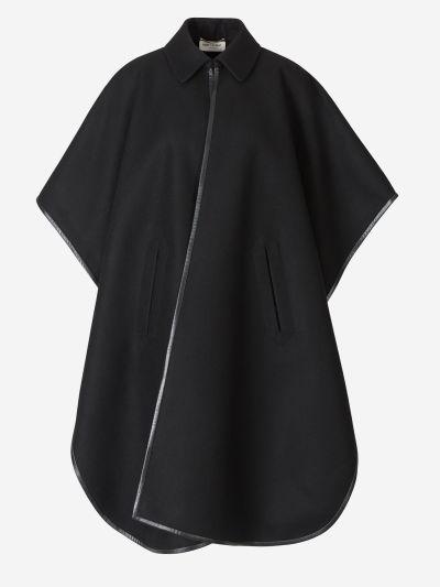 Contrast Cashmere Coat