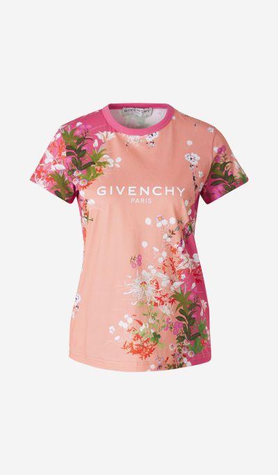 Camiseta Estampado Floral Logo
