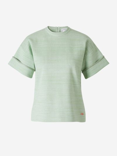 Fluted Knit T-shirt