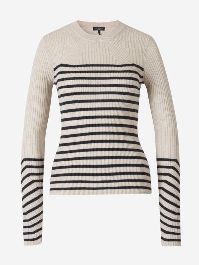 Striped Cashmere Knit Sweater