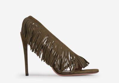 Wild Fringe Heeled Sandals