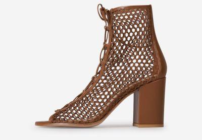 Vigcucu peep toe ankle boots
