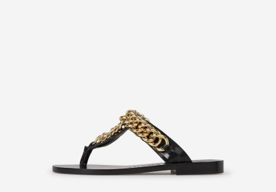 Chain Leather Sandals