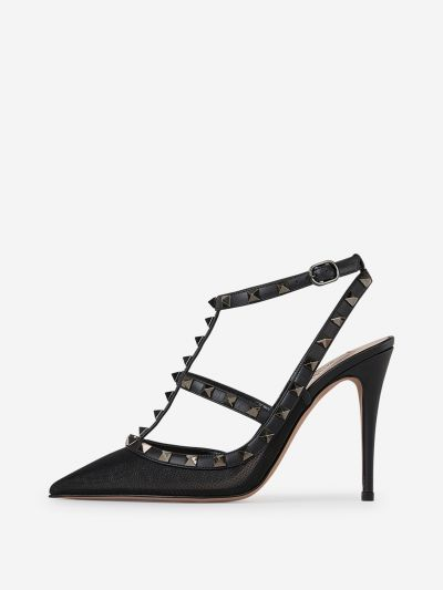 Rockstud Grid Heel Shoes