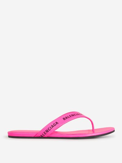 Allover Logo Sandals