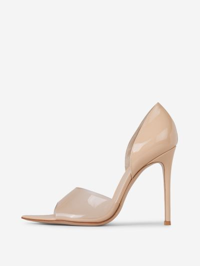 Glass Nude Pumps