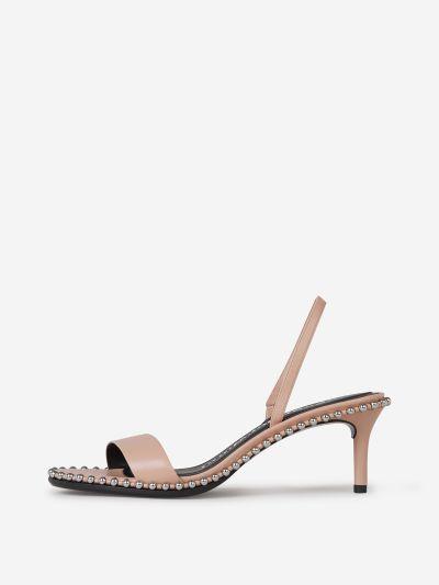 Metal Beaded Sandals