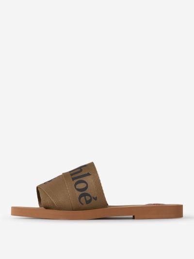 Woody Flat Logo Mules