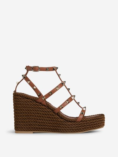 Rockstud Wedge Sandals