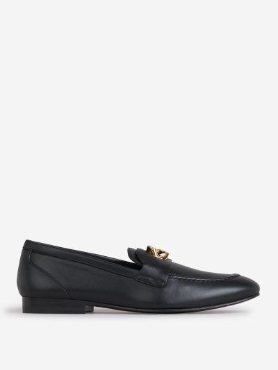 Metallic Detail Loafers