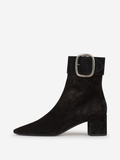 Suede leather half-leg boots