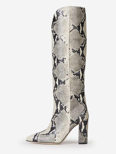 High-leg snake boots