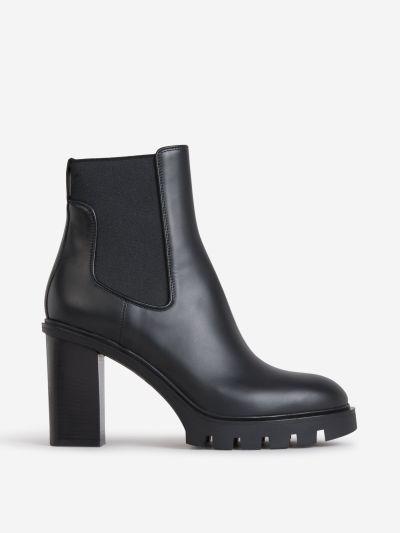 Paneled Heel Boots