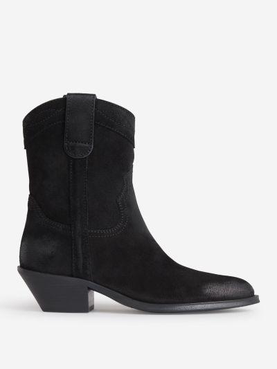 Cowboy Suede Boots