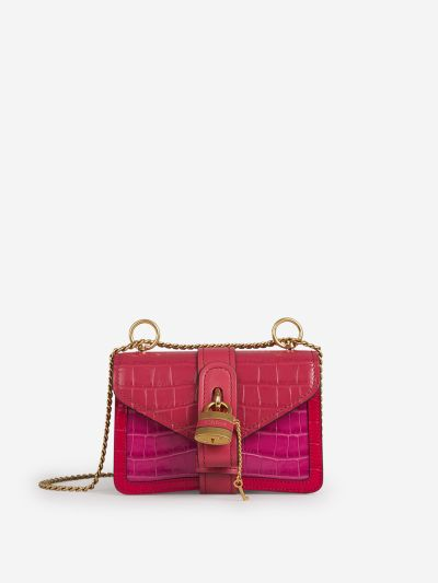 Bolso Aby Chain Croco