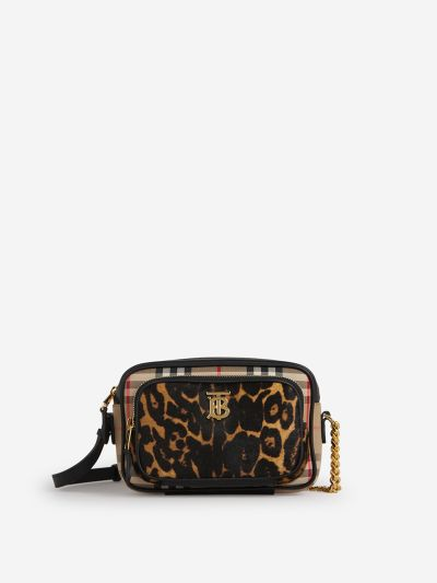 Leopard Bag with Vintage Checks