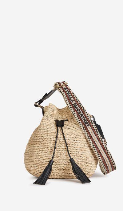 Raffia Logo Bag