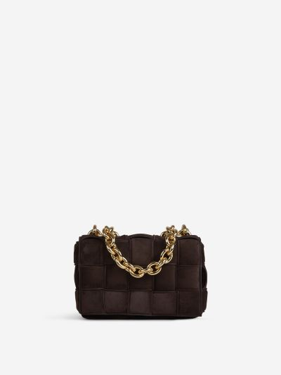 Suede Chain Casette Bag