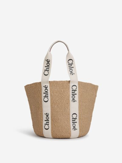 Woody Logo Basket Bag