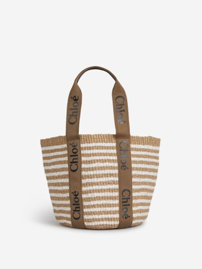 Logo Woody Basket Bag