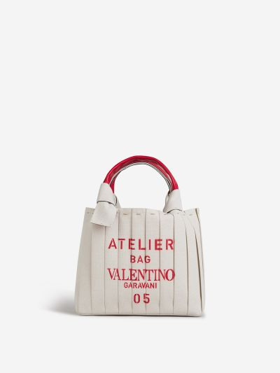 Pleated Atelier Shopper Bag
