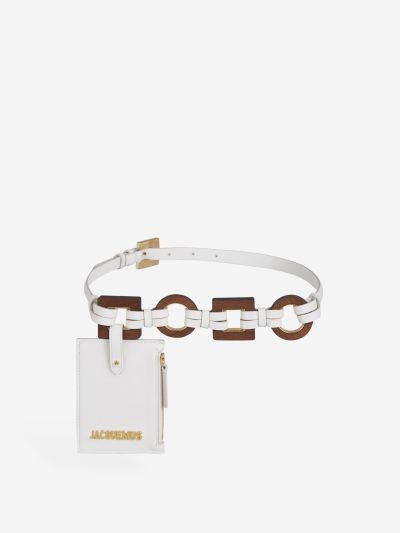 Pouch Hoops Leather Belt