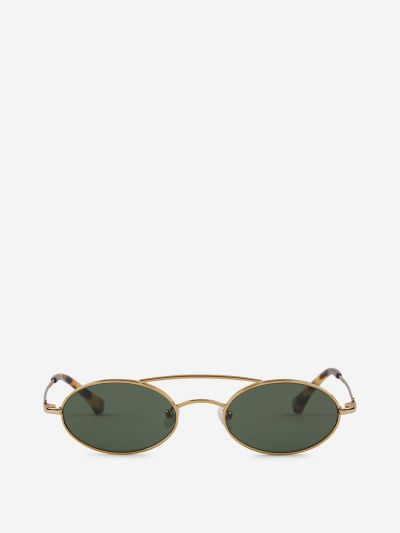 Oval sunglasses with double bridge