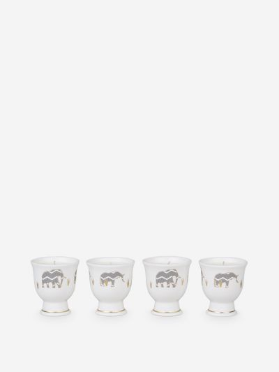 Cedar egg cup candles