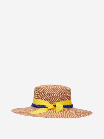 Brim boater hat